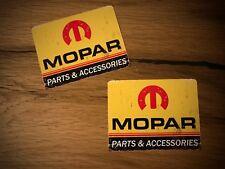2x MOPAR Parts Aufkleber Vintage Oldtimer Chrysler Dodge V8 USA Muscle Car #075