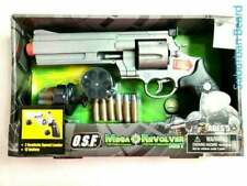 RETRO Toy Gun Revolver Set Operation Storm Force Battery Operated New