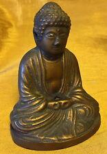 Vtg Chinese/Japanese/Asian Brass BUDDHA Figurine w Vent Holes Incense Burner