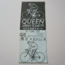 QUEEN : 1979 Budokan Tokyo Japan Concert Ticket Stub Live Killers Japanese Tour