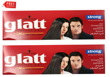 LOT 2x GLATT Professional Keratin Complex Hair Straightener Cream Strong Formula