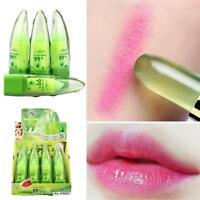Magische Temperatur ändern Farbe Lippenstift Feuchtigkeit grün bis rosa Lip U5V1