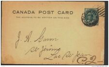 CANADA, Postcard 1897 1c , fine (D)