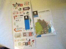Creative Memories Scrapbooking Sticker Titles Embellishments Fall In Multi Color