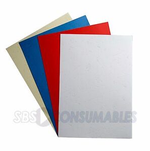 EverCover A4 Binding Covers. Choice of 4 Colours. Leathergrain, 270g. 10 Sheets.