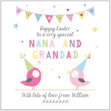 Personalised EASTER CARD Nana Grandad Grandma Grandpa Gran Any names any message