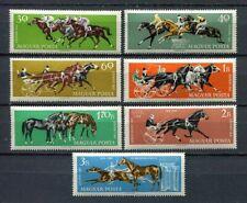 32073) Hungary 1961 MNH Horse Races 7v. Scott #1406/12