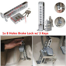 Brake Pedal Lock Security Car Auto 8 Hole Stainless Steel Clutch Lock Anti-Theft