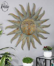 Large Metal Sun Wall Decor Bronze Green Garden Indoor Outdoor Wall Sculpture