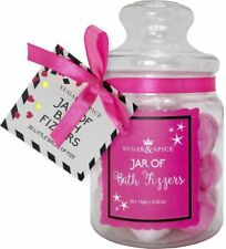 Sugar & Spice SWEET JAR OF 20 MINI BATH FIZZERS BOMBS Amazing Scent Perfect Gift