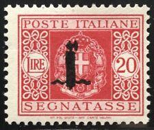 Regno RSI 1944 segnatasse lire 20 vermigliò mnh siglato Bolaffi