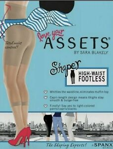 SPANX Love Your Assets High Waist Footless Shaper,Cellulite Smoother Black,Size1