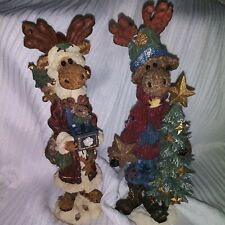 2 Boyds Bears Moose Figurines The Folkstone Collection Style 2832 & 2839