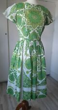 New listing Vintage 50s60s Toni Todd Tea Dress Psychedelic Day Dress sz12