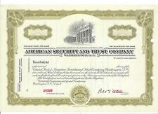 "AMERICAN SECURITY AND TRUST COMPANY (WASHINGTON D.C.)...""SPECIMEN"" CERTIFICATE"