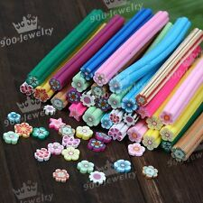 10 pcs DIY 3D fruit Flower Fimo Canes Rods Nail Art tips Glitters Decorations