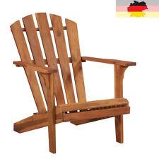 vidaXL Holz Doppelter Adirondack Stuhl Braun Gartenstuhl Gartensessel Sessel