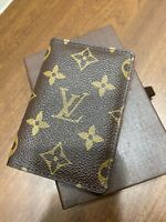 Authentic LOUIS VUITTON Pocket Organiser Card Case Monogram LV Free shipping