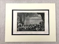 1854 Print Church of Scotland General Assembly 1783 Scottish Antique Engraving