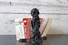 Three Wise Skulls Business Card Holder - 15 cards unique array design - Znet3D
