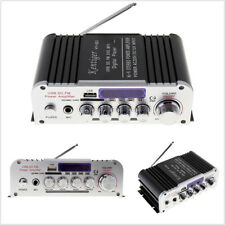 2CH HIFI Bluetooth Car Power Amplifier FM Radio Music Player SD USB MP3 DVD 12V