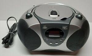 Durabrand AM FM Radio Receiver CD Player Model CD-1095 Silver Gray Portable