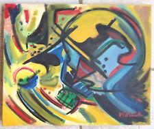 Superbe composition ABSTRAITE signée sur toile ;ECOLE ALLEMANDE
