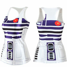 Star Wars robot R2D2 3D Digital Print Womens Vests Tops Singlet T-Shirt Tank Top