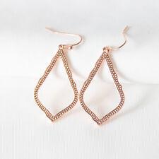 $55 Kendra Scott Sophia Drop Earrings In Rose Gold New with bag