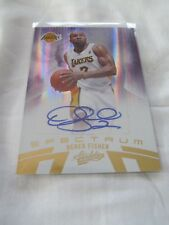 2010-11 Absolute BKB SPECTRUM #84 Derek Fisher Los Angeles Lakers AUTOGRAPH #/99
