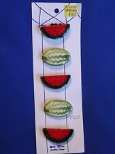 "Bee Hive ""WATERMELON"" Button Covers - Set of 5 NOS - on original card Austin, TX"