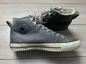 CONVERSE Chuck Taylor City Hiker Admiral High Top Leather Trainers UK 9.5 Grey