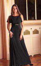 Largo Fiesta Noche Mujer Boda Cóctel Graduación Vestido Maxi UK Talla 8-22