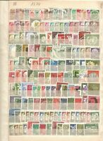 West Germany FRG 1350+ ALL DIFFERENT commoratives USED collection kiloware