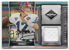 2009 Donruss Limited Material Monikers #22 Jim Kelly Jersey Autograph #13/25