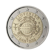 "Slovakia 2 Euro commemorative coin 2012 ""10 - years of Euro"" - UNC"