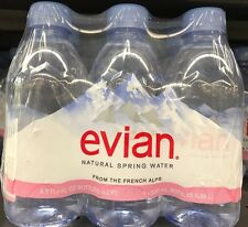 Evian Water - Pack of 6 Plastic Bottles of 11.2 Oz