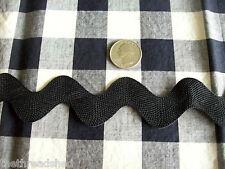 Vintage Wrights 1.5 in Wide Black Ric Rac  Sewing Trim Ric Rack BTY