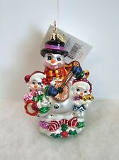 Christopher Radko Ornament Chilly Tunes Trio #02-Sp-96 New With Tag (R27)
