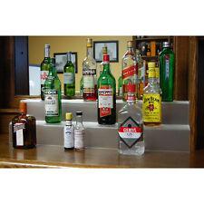 34-inch 2 Tier Liquor Bottle Shelf - Translucent - Bar Pub Alcohol Display Decor