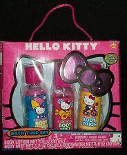 Hello Kitty Cotton Candy Bath Time Set Body Wash Mist Lotion Sanrio