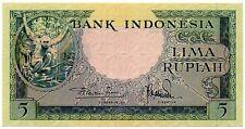 Indonesia 5 Rupiah 1957 (P-49)