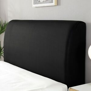 Elastic Headboard Cover Pure Color Bed Head Slipcover Bedside Dust-proof Decor