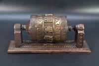 Beautiful Buddhist Tibetan Ritual Tantric Dorje Wheel prayer old Decor Handmade