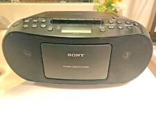 Sony CFD - S50 AM/FM Cassette CD Player Boombox - Clean Condition!