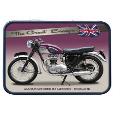 Triumph TR6 Motorbike Metal Keepsake Tin Men Gift Storage Licensed 50477