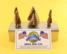 Electrician Step Drill Bit UNIBIT Reamer Spiral Flute COBALT M42  Drill Hog USA