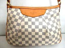 Authentic LOUIS VUITTON Damier Siracusa PM N41113 Azur Shoulder Bag SP2103