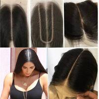 "2""x6"" Lace Closure Human Hair With Baby Hair Brazilian Remy Human Hair Closure"