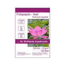 100 Blatt DIN A4 120g/m² Fotopapier Matt wasserfest Photopapier lichtecht